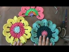 """How to Crochet the """"Flower Power Valance""""...Video 2 of 2"""