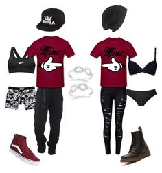 """Lesbian couple, butch and Chapstick"" by nevada-feasby on Polyvore featuring STELLA McCARTNEY, Vans, WithChic, NIKE, Boris Bidjan Saberi, Dr. Martens, Victoria's Secret, Allurez, Laundromat and Supra"