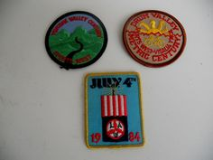 vintage cycling patches . 1980's sport by MikesQualityVintage