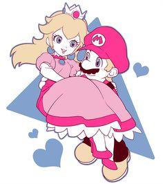 Peach and Mario Super Mario Bros, Super Mario World, Super Mario Nintendo, Super Mario Brothers, Super Smash Bros, Peach Mario, Mario And Princess Peach, Mario Bros., Mario And Luigi