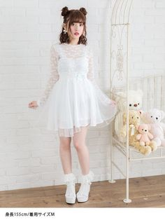 dreamv | Rakuten Global Market: I prepare for big size / white lavender tie-dyeing white /M L LL/ for a Georgette translucency legendary man with long legs effect pretty easy daily person in a ribbon shirring rubber knee softly in skirt waist race up asymmetric Tulle spring and summer! #bestskirtforbiglegs
