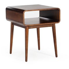 Belham Living Carter Mid Century Modern Side Table ($191) ❤ liked on Polyvore featuring home, furniture, tables, accent tables, mid century modern table, mid-century modern furniture, mid century side table, mid century style furniture and midcentury side table
