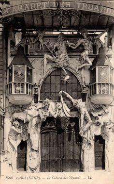 Entrance to The Cabaret des Truands located in Paris France at 100 Boulevard de Clichy, circa 1912 Cabaret, Belle Epoque, Paris 1900, Old Paris, Vintage Paris, Old Pictures, Old Photos, Paris Ville, Vintage Photographs