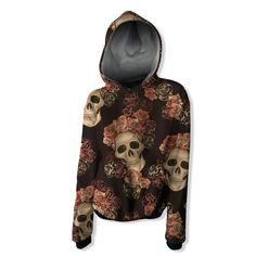 Skull and Roses Hoodie Unicorn Hoodie, Skulls And Roses, Colorful Hoodies, Comics Girls, Wool Fabric, True Love, Creative Design, Organic Cotton, Knitting