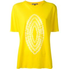Suzusan Karamatsu T-shirt ($225) ❤ liked on Polyvore featuring tops, t-shirts, yellow, yellow t shirt, yellow top and yellow tee
