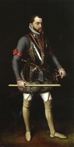 Antonio Moro. Felipe II en la jornada de San Quintin. 1560. Monasterio del Escorial. Madrid.