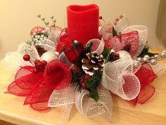 Aprende cómo hacer centros de mesa navideños con mallas ~ Belleza y Peinados