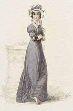 Charlotte in her half-mourning Regency attire. I love this pose.