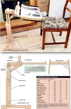 DIY Embroidery Frame - Woodworking Plans and Projects | WoodArchivist.com