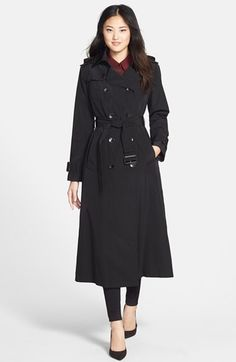 $128.98 (originally $258)  London Fog Long Trench Coat with Removable Hood (Online Only) available at #Nordstrom