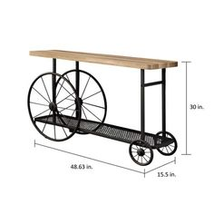 Furniture of America Galen Industrial Style Sand Black Wheeled Sofa Table - Ships To Canada - Overstock - 20970204 Industrial Console Tables, Industrial Design Furniture, Vintage Industrial Furniture, Metal Furniture, Rustic Furniture, Industrial Style, Diy Furniture, Furniture Design, Furniture Movers