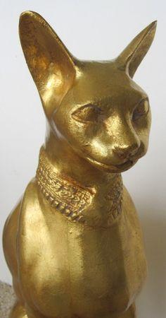 Египетский Скульптура Cat Р. Viot изображения 2
