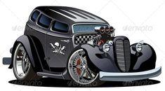 Vector Retro Cartoon Hotrod Stock Vector - Illustration of restoring, automobile: 17363282 Cool Car Drawings, Truck Detailing, Car Vector, Vector Stock, Ford, Retro Cartoons, Truck Art, Garage Art, Automotive Art