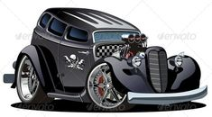 Cartoon Retro Hotrod  #GraphicRiver         Available AI-10 and EPS vector formats separated by groups and layers for easy edit. More cartoon cars and transportations illustrations see in my portfolio.   Also you can check at my Collections:  Vector Cartoon Cars  Vector Cartoon Trucks  Detailed Vector Cars modern and retro  Detailed Vector Trucks Vans Tractors and Pickups  Detailed Vector realistic and cartoon styled Buses  Vector aircrafts, airplanes, retro, modern, blueprints, silhouettes…