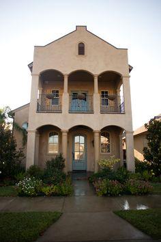 Mediterranean-style custom home.