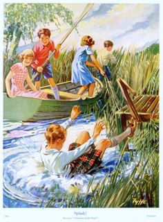 My Puzzles - Children - Vintage - Scottish Boating Fun Images, Illustrations, Fun, Painting, Vintage, Childhood, Paintings, Illustration, Vintage Comics