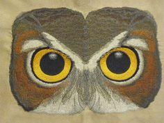 Owl Eyes - Embroidery Library Owl Eyes, Machine Embroidery, Bird, Animals, Animales, Animaux, Birds, Animal, Animais