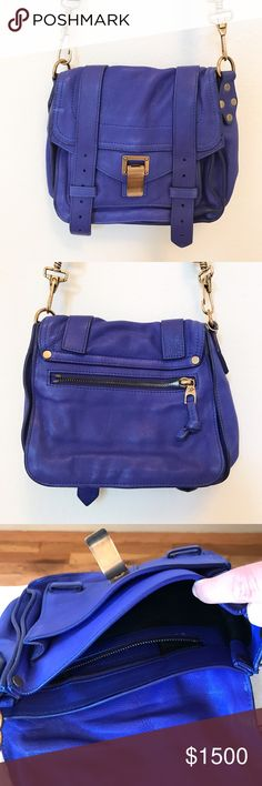 Proenza Schouler cross body bag Gorgeous and rare. 100% real leather. Brass hardware. Has only been worn once for a photo shoot. Purchased at Neiman Marcus (see tag in 4th pic). Brand new with tags. Costs $1325 not including California tax, so I paid $1437 for it. Absolutely no trades. This is a high end designer bag. Proenza Schouler Bags Crossbody Bags