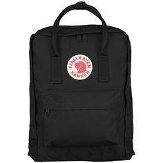 Fjällräven Kånken Original Backpack Black by Fjallraven ($80) ❤ liked on Polyvore featuring bags, backpacks, fjällräven, knapsack bag, fjallraven bag, backpack bags and fjallraven rucksack
