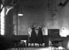 scary gif gifs Black and White creepy hell Awesome horror dark satan darkness goth Demon gothic Hades terror tall demonic