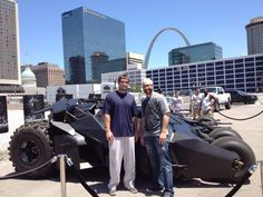 Holy birds on the bat, Batman! Is that Mr. Freese and the joker with the new Batman Tumbler & Bat-Pod?!     Freese and Motte got a sneak peek earlier today, and fans can check out the vehicles in the Ballpark Village Lot before tonight's game.