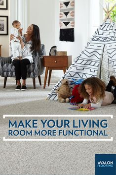 As we are spending more time at home, you may find that your living room has now assumed a wide variety of functions, from home office to playroom to relaxation space. Check out some tips on how to make your living room space more functional.