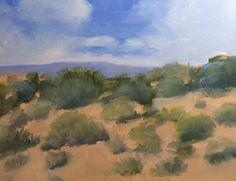"Original Oil Painting titled ""Moab Desert"" 8"" x 10"" gesso board panel, by Debi Hinshaw"