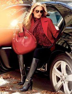 Rhea backpack by MICHAEL Michael Kors. A structured MICHAEL Michael Kors backpack in pebbled leather. Outlet Michael Kors, Sac Michael Kors, Handbags Michael Kors, High Fashion, Winter Fashion, Womens Fashion, Fashion Tips, Fashion Trends, Latest Fashion