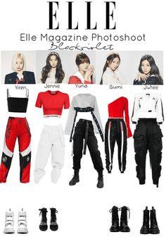 The easiest way to find the perfect outfit Elle Photoshoot Kpop Fashion Outfits, Stage Outfits, Edgy Outfits, Mode Outfits, Dance Outfits, Girl Outfits, Korean Outfits Kpop, Grunge Outfits, School Outfits