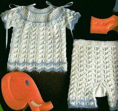 Tricotando carinho: Conjunto para bebê Samia