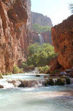 Havasupai Falls - 11 mile hike in to camp. Sounds and looks awesome.