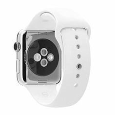Apple Watch 42 Mm Case 316l Stainless Steel Sapphire Crystal Retina Display Ceramic Back, Sports Band White 316l Stainless Steel Pin