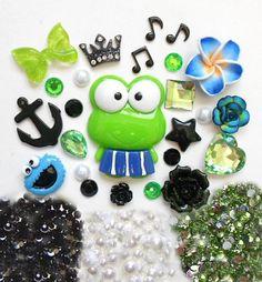 LOVEKITTY - DIY 3D Frog Bling Cell Phone Case Resin Flat back Kawaii Cabochons Deco Kit / Set, http://www.amazon.com/dp/B00D102QD0/ref=cm_sw_r_pi_awdm_-eFjub1SDSKFG