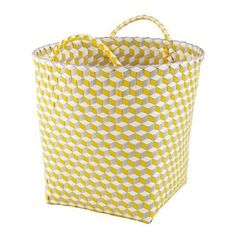 Large Strapped For Storage Bin (Yellow) (180 CNY) Found On Polyvore