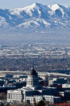 I miss the mountains...it's so pretty..Salt Lake City, Utah
