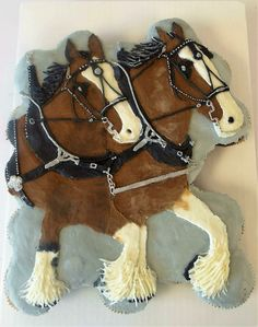 Clydesdale Cupcake Cake! All buttercream! By sweet heritage bakery