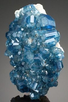 Brazil Blue Apatite - from Alto Da Cabeca Mine, Parelhas, Rio Grande do Norte, Brazil