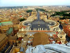 View from top of St Peter's Basilica