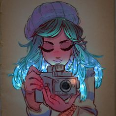 ✨Snapshots✨ #art #drawing #sketch #cute #camera #ink #watercolor #manga