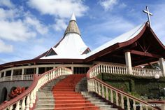 TONGA: The Basilica of St. Anthony of Padua ⛪ in Nuku'alofa, let's go inside! Tonga, Mosque, Temple, Cathedral, Saints, Around The Worlds, Building, Places, Travel