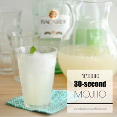 There are a few cocktails that are summer favorites for me - a dark & stormy, fresh margaritas, and mojitos. And there is something extra special about a real mojito. It's super light, perfec...