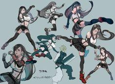 Final Fantasy Vii Remake, Tifa Final Fantasy, Final Fantasy Girls, Final Fantasy Artwork, Final Fantasy Characters, Fantasy Rpg, Anime Characters, Game Character Design, Character Art