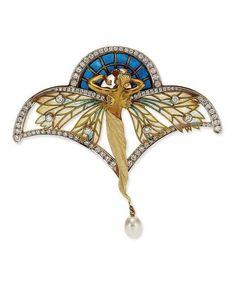 Masriera | Art Nouveau Brooch/ Pendant.