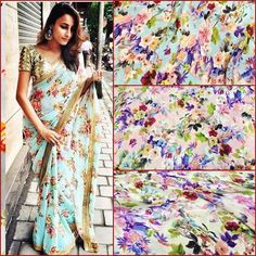 Floral satin crepe saree To purchase mail us at houseof2@live.com or whatsapp us on +919833411702 for further detail #sari #saree #sarees #sareeday #sareelove #sequin #silver #traditional #ThePhotoDiary #traditionalwear #india #indian #instagood #indianwear #indooutfits #lacenet #fashion #fashion #fashionblogger #print #houseof2 #indianbride #indianwedding #indianfashion #bride #indianfashionblogger #indianstyle #indianfashion
