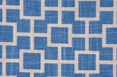 Blue Linen Blend Geometric Lattice Fabric by Robert Allen. $14.99, via Etsy.