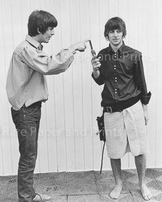 George Harrison and Ringo Starr, August 23-25 1964 Bel-Air Poolside