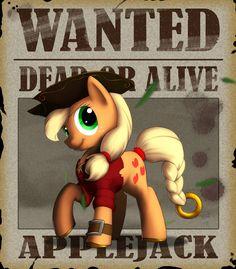 Wanted - Applejack by Lionheartcartoon