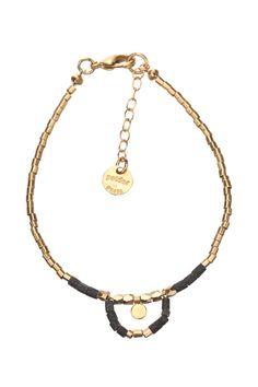 Bracelet doré perles Greenwich Doré Polder sur MonShowroom.com