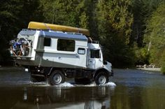 Unimog Expedition Camper. Well designed and equipped. Over-drive (giving 16 speed forward, splitting the gears for greater advantage for highway speeds. Engine Break. Marine quality electr...
