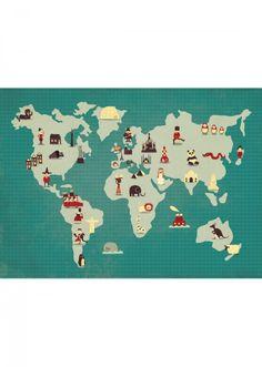 Poster Mapa Ilustrado